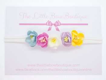 Adorable Little Flower Headband Pastels