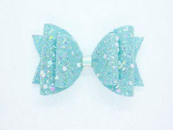 Crystal Sparkles Glitter Bow Unicorn Turquoise