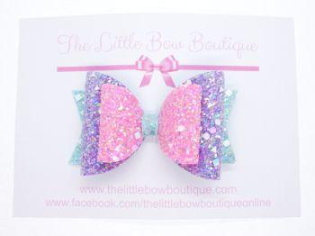 Crystal Sparkles Glitter Bow Unicorn Dreams
