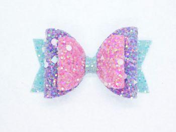 Crystal Sparkles Glitter Bow Unicorn Dreams Small Bow
