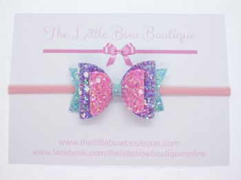 Crystal Sparkles Glitter Bow Unicorn Dreams Headband