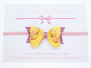 Golden Ducklings Bow Headband