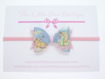 Dream Big Little One Unicorn Bow Headband