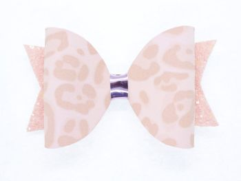 Leopard Print Pretty in Pink Bow