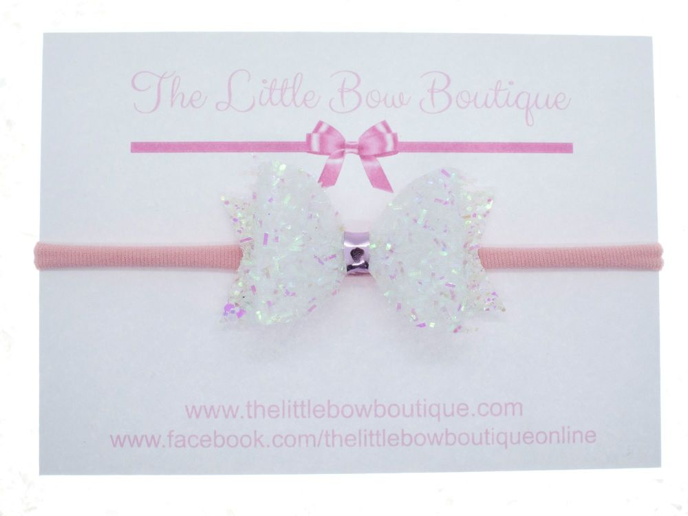 Angel Fairy Sparkles Small Bow Headband or Clip (price reduces for clip)