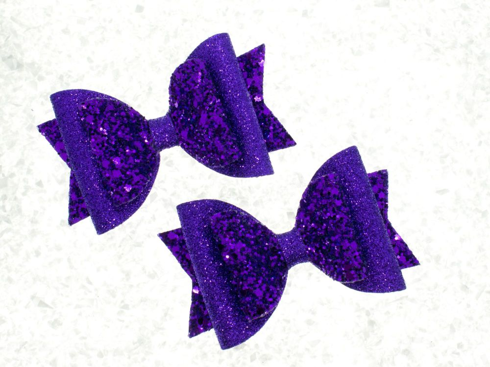 Purple Luxury Glitter Mix Bow