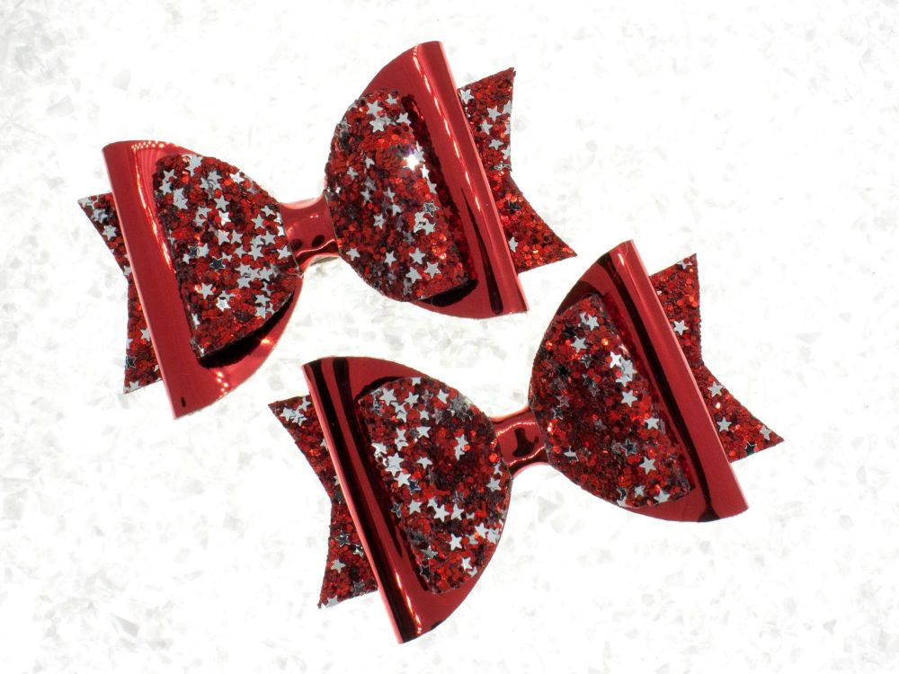 Gorgeous Glimmer Bow Red