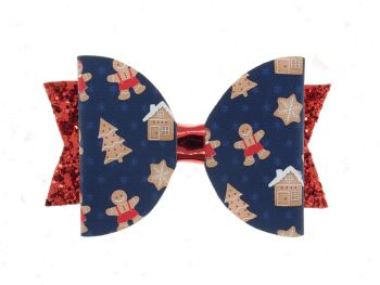 Ginger Bread Christmas Bow