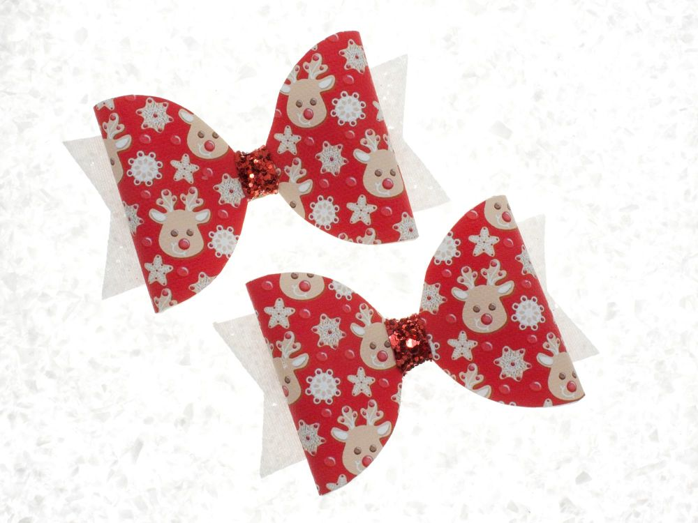 Red Nose Reindeer Bow