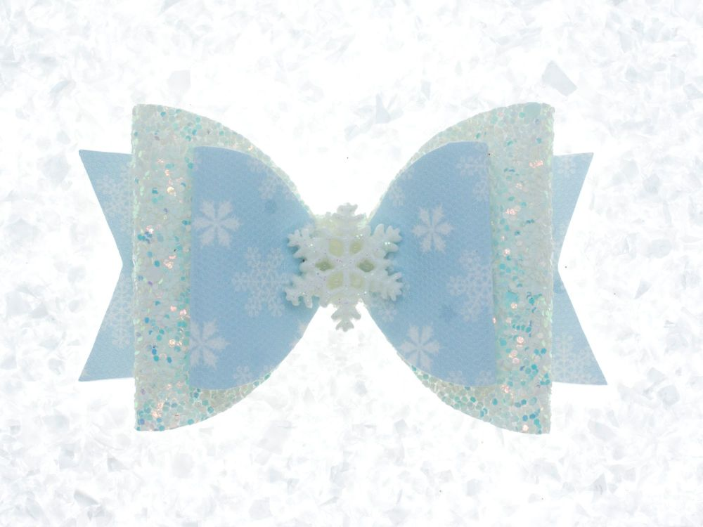 Let it Snow or Let it Go Winter Bow