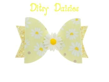 Ditsy Daisies Bow – Standard Size