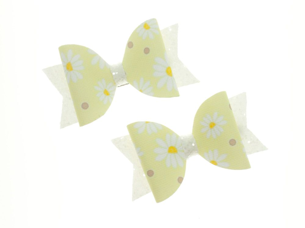 Ditsy Daisies Bow – Small Bows