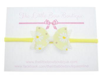 Ditsy Daisies Bow – Headband Small Bow