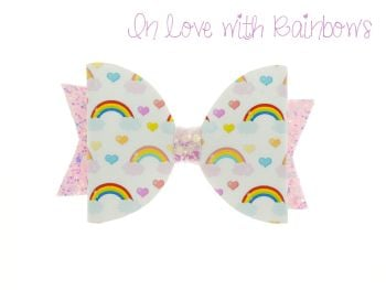 In Love with Rainbows – Standard Size Bow