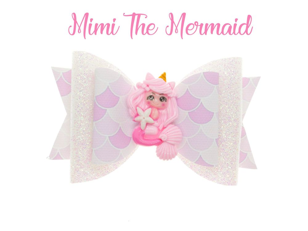 Mimi The Mermaid – Standard Size Bow