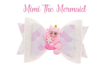 Mimi The Mermaid – Standard Size Bow