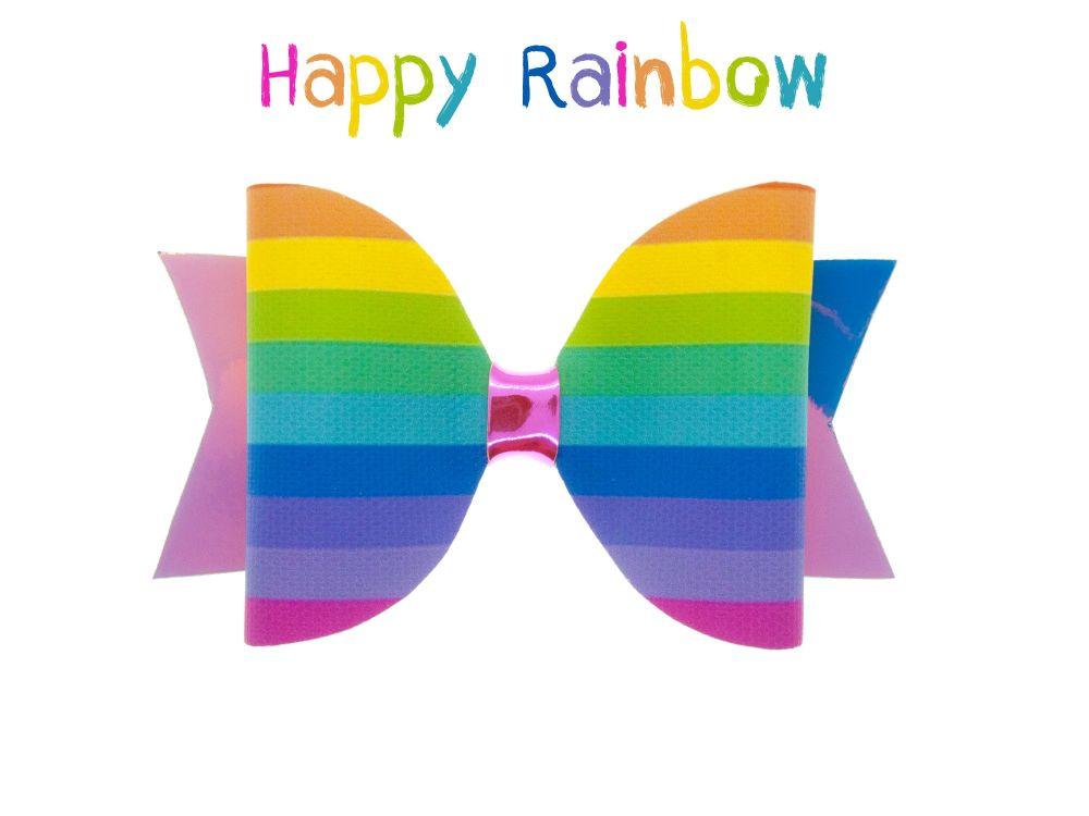 Happy Rainbow – Standard Size Bow
