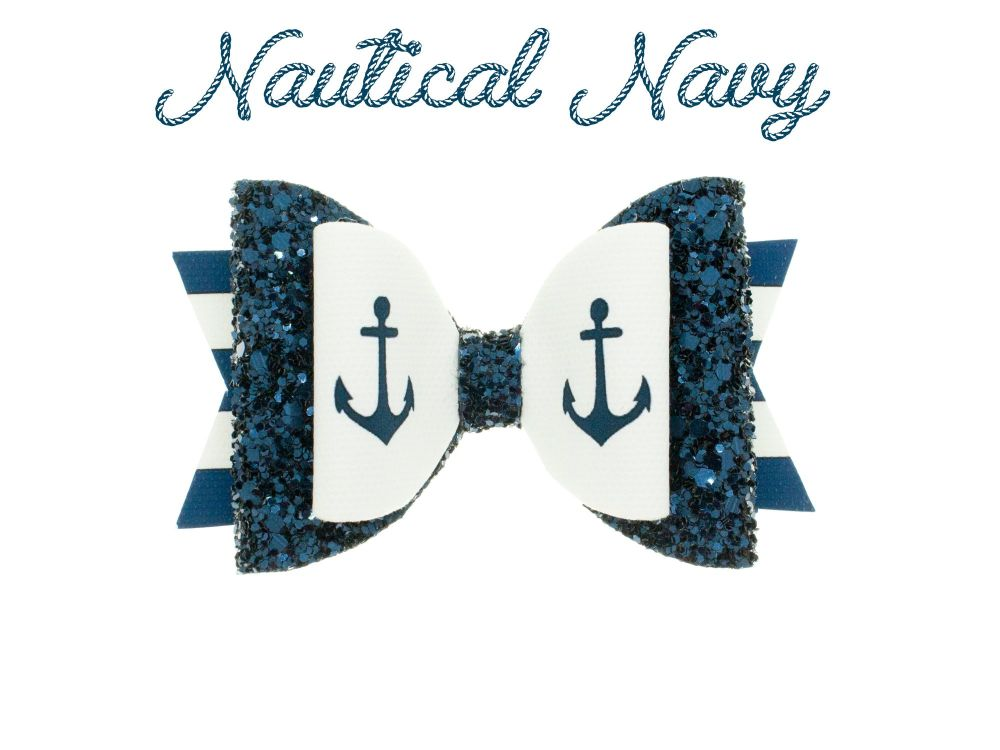 Nautical Navy – Standard Size Bow