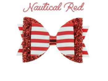 Nautical Red – Standard Size Bow