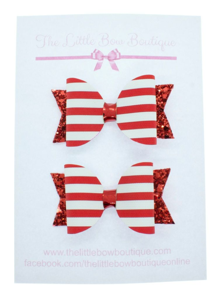 Nautical Red – Small Bows