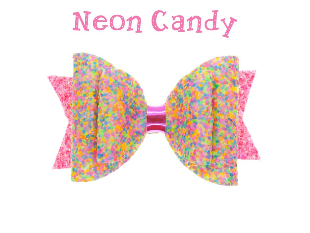Neon Candy – Standard Size Bow