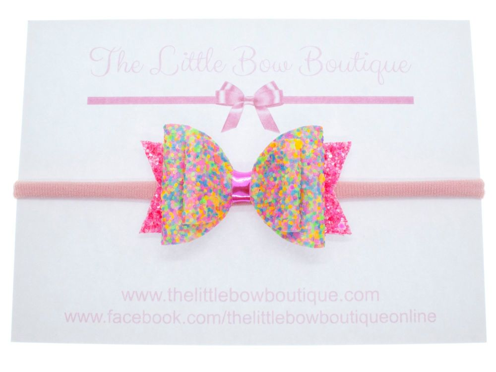 Neon Candy - Headband Small Bow