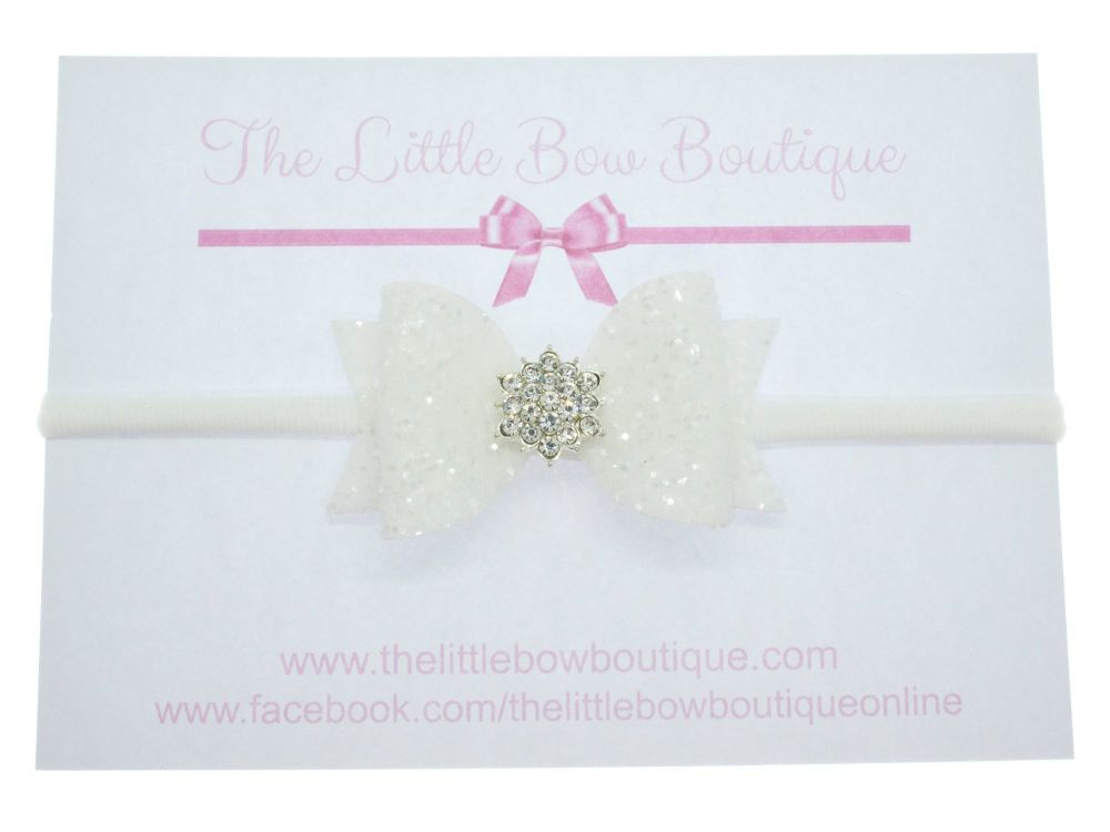 Glitter & Diamanté Special Occasion Bow on headband