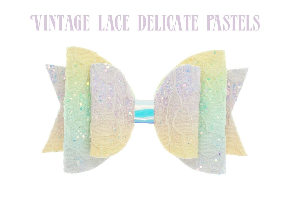 Lace – Vintage Lace in Delicate Pastels Bow