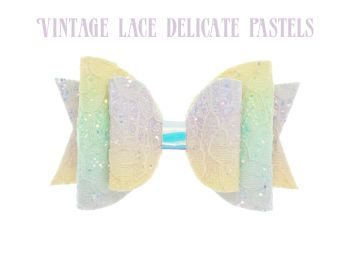 Glitter Lace – Vintage Lace in Delicate Pastels Bow
