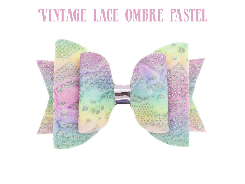 Lace – Vintage Lace Ombre Pastels Bow