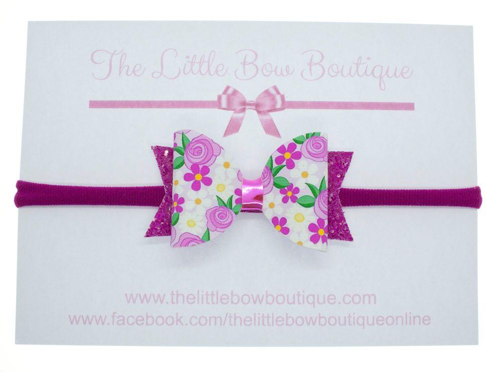 Blooming Beautiful - Headband Small Bow