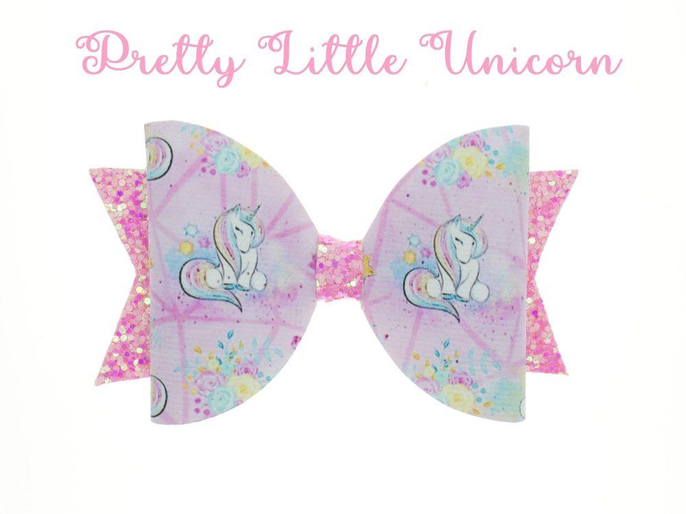 Pretty Little Unicorn – Standard Size Bow
