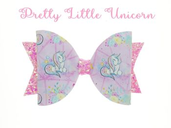 Pretty Little Unicorn – Standard Size Bow