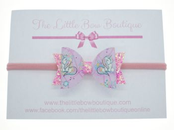 Pretty Little Unicorn - Headband Small Bow
