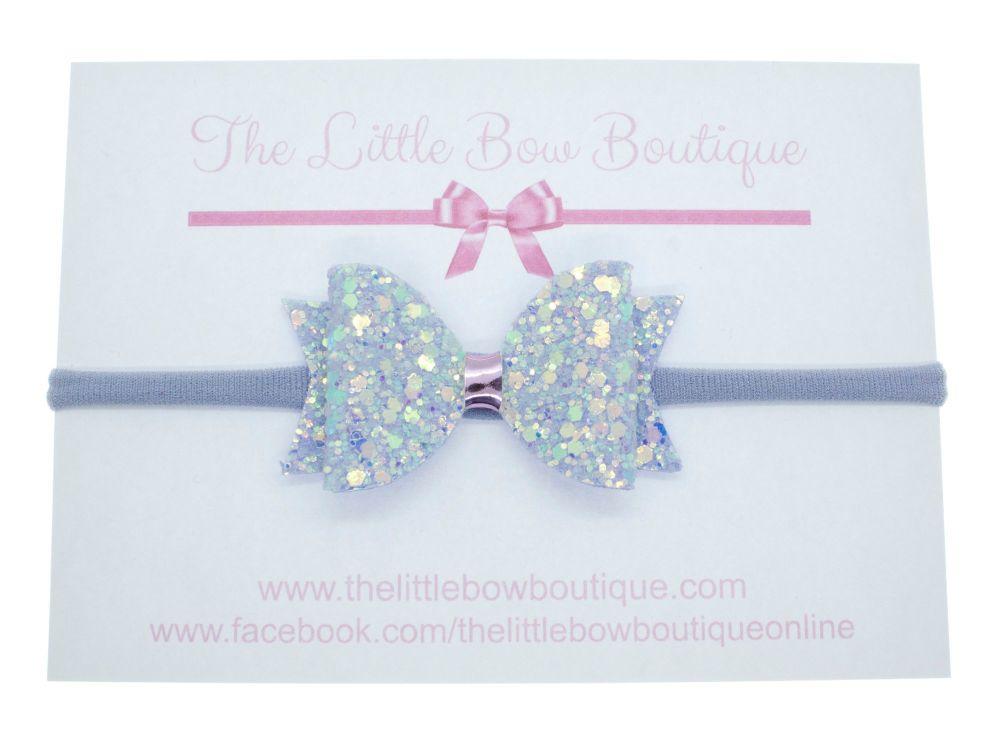 Lilac Sparkles  - Headband Small Bow
