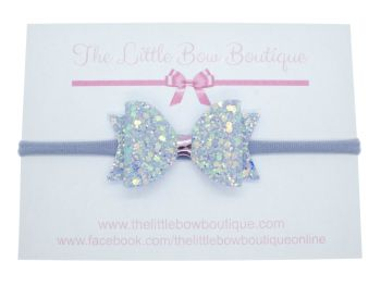 Lilac Sparkles  - Headband Small Bow