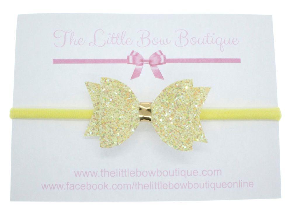 Glitter Bows Lemon Sparkles