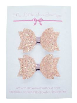 Glitter Bows Ballet Pink  – Small Bows