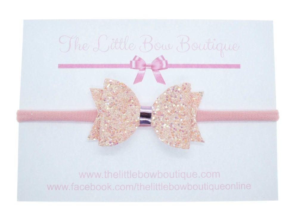 Glitter Bows Ballet Pink