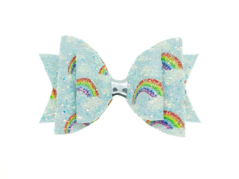 Glittering Rainbows Bow - Blue