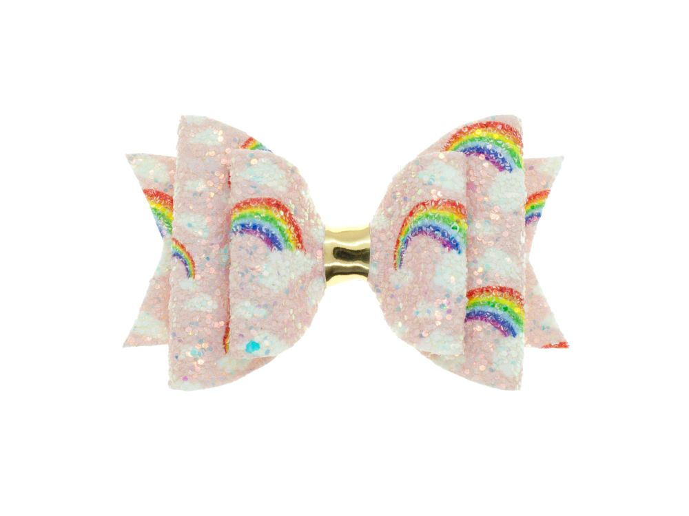 Glittering Rainbows Bow - Pink