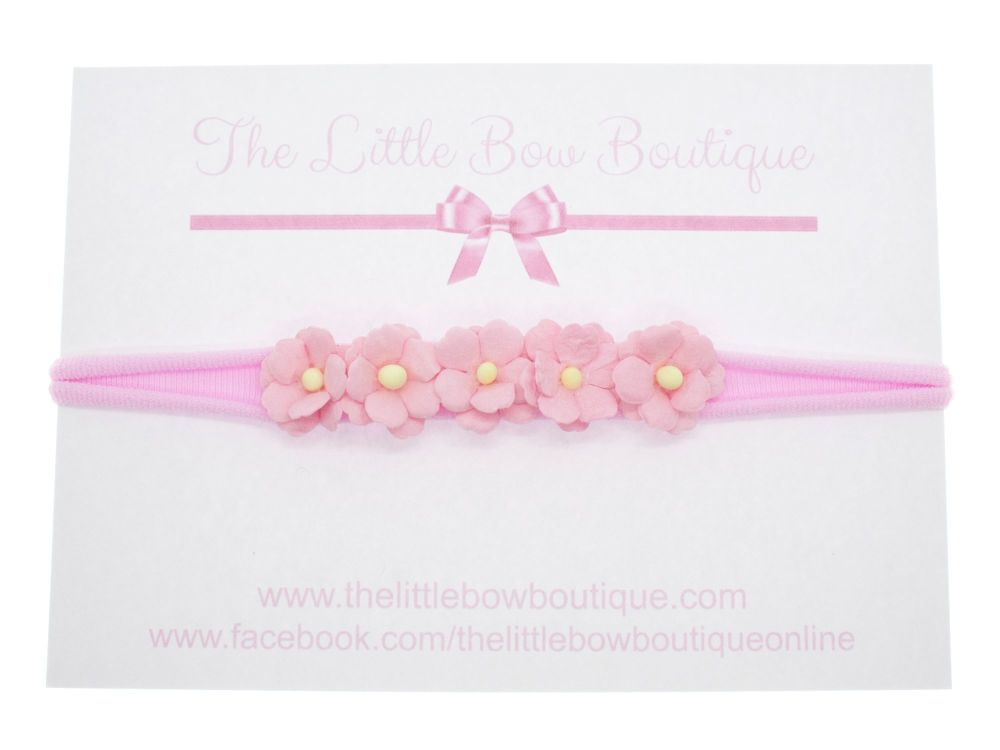 Pretty Sweetheart Blossoms Headband - Pink