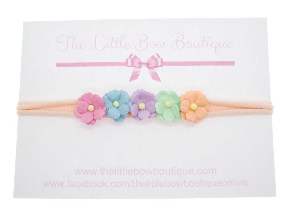 Pretty Sweetheart Blossoms Headband – Multi