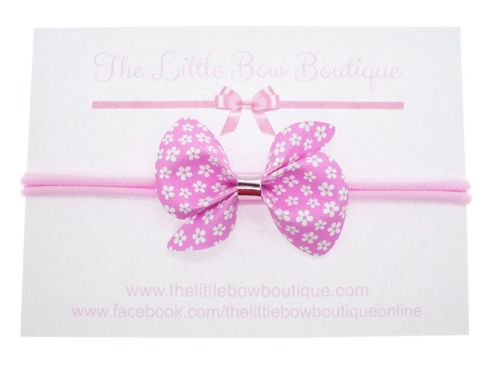 Scrunchi Shape Small Bow – Little Daisies