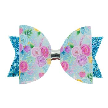 Blooms in Blue Regular Size Bow