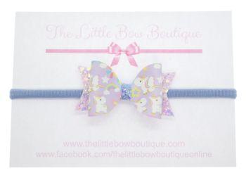 Baby Unicorns Small Bow on Headband