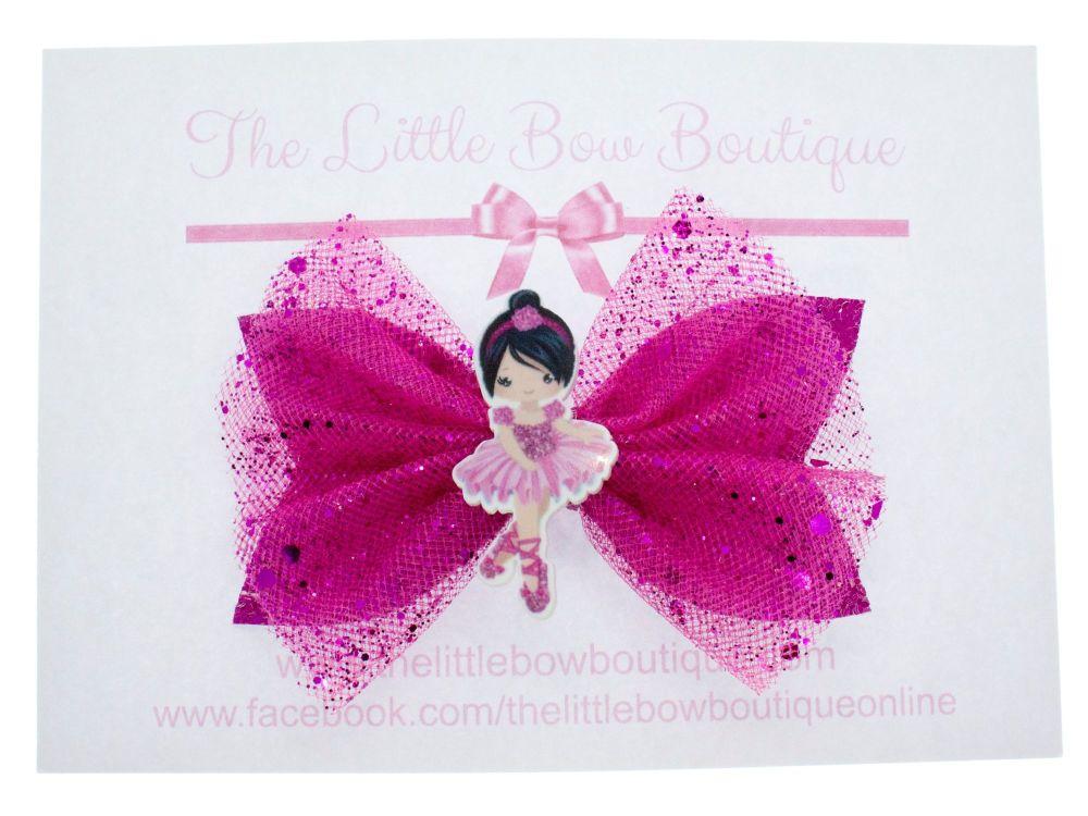 Ballerina Beauty Bow – Dark Pink Brunette