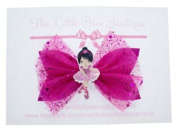 Ballerina Beauty Bow – Dark Pink Brunette