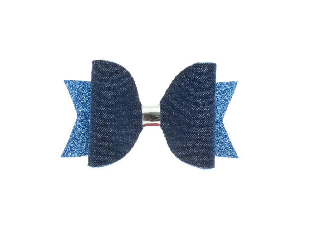 Blue Denim Bow