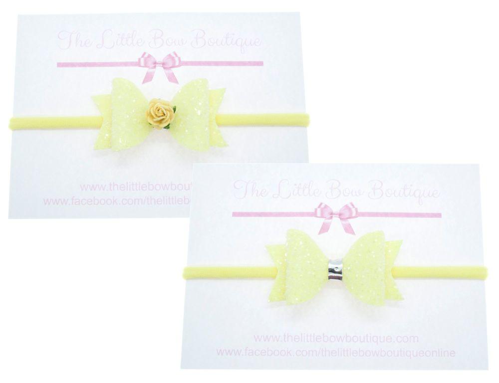 Ice Cream Sparkles Small on headband – Lemon